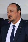 Treinador Rafael BenÃtez do Real Madrid Fotografia de Stock Royalty Free
