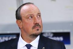 Treinador Rafael BenÃtez do Real Madrid Imagens de Stock Royalty Free