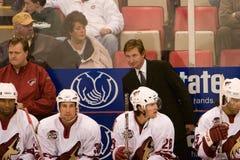 Treinador Wayne Gretzky Imagens de Stock