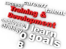Treinamento & desenvolvimento ilustração do vetor