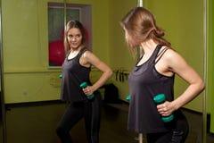 Treinamento da aptidão no gym Foto de Stock