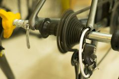 Treinamento da bicicleta fotos de stock