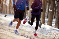Treinamento da circunstância no inverno foto de stock royalty free