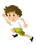 Treinamento da criança dos desenhos animados - ilustração para as crianças Fotos de Stock Royalty Free