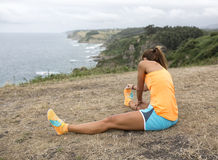 Treinamento da mulher do atleta Foto de Stock