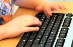 Treinamento de computador na escola Fotos de Stock