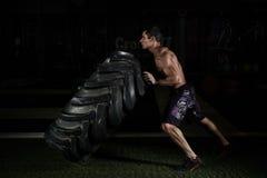 Treinamento de CrossFit imagem de stock