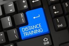 Treinamento de distância - botão moderno do portátil 3d Fotografia de Stock