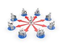 Treinamento de distância ou conceito do treinamento em linha Foto de Stock Royalty Free