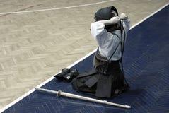 Treinamento de Kendo Imagem de Stock Royalty Free