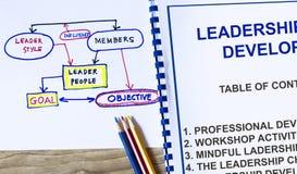 Treinamento de liderança imagem de stock royalty free