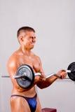 Treinamento do bodybuilder do principiante foto de stock royalty free