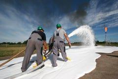 Treinamento do bombeiro Imagem de Stock