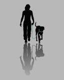 Treinamento do cão ilustração royalty free