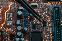 Treinamento do coordenador dos componentes eletrônicos de Smd fotos de stock