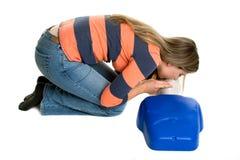 Treinamento do CPR da menina Foto de Stock Royalty Free
