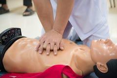 Treinamento do CPR do salvamento foto de stock royalty free