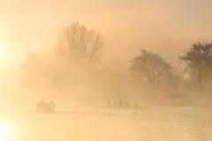 Treinamento do enfileiramento em Tamisa em Oxford imagens de stock royalty free