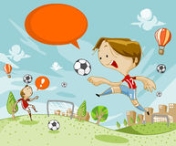 Treinamento do futebol Imagem de Stock