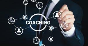 Treinamento do negócio Conceito pessoal do desenvolvimento Conceito da tecnologia, Internet fotografia de stock