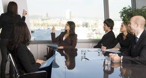 Treinamento do negócio onde o grupo de pessoas é wearin Fotografia de Stock