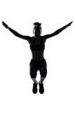 Treinamento do peso da postura da aptidão do exercício da mulher Fotografia de Stock
