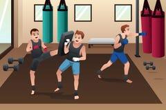 Treinamento do pugilista no gym Imagens de Stock