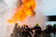 Treinamento do sapador-bombeiro Fotos de Stock Royalty Free