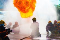 Treinamento do sapador-bombeiro Foto de Stock Royalty Free