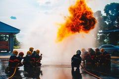 Treinamento do sapador-bombeiro Imagens de Stock Royalty Free