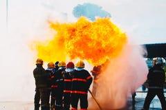 Treinamento do sapador-bombeiro Imagem de Stock
