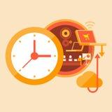 Treinamento do tempo e desenvolvimento das habilidades Ilustração Stock