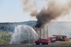 Treinamento dos bombeiros Foto de Stock