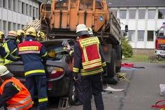 Treinamento dos sapadores-bombeiros Imagem de Stock