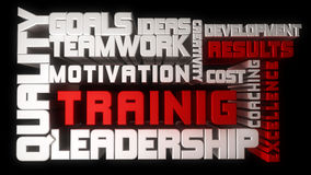 Treinamento e liderança ilustração stock