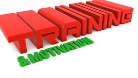 Treinamento e motivação ilustração stock