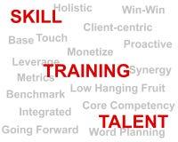 Treinamento e talento de habilidade imagens de stock royalty free