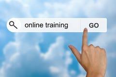 Treinamento em linha na barra de ferramentas da busca Imagens de Stock