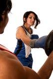 Treinamento fêmea do pugilista Imagem de Stock
