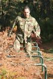 Treinamento físico militar Imagem de Stock