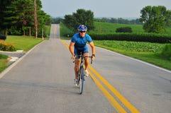 Treinamento masculino do ciclista Foto de Stock Royalty Free