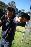Treinamento masculino do pugilista Fotos de Stock Royalty Free