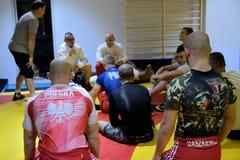 Treinamento nacional polonês da liga da luta romana Fotos de Stock
