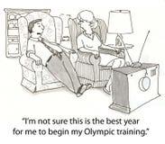 Treinamento olímpico Imagem de Stock