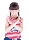 Treinamento pequeno da menina do karaté fotos de stock royalty free