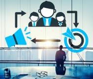 Treinando o conceito do alvo da tutoria da liderança Fotografia de Stock