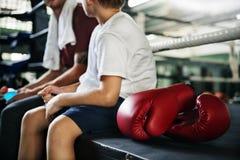 Treinando o conceito do exercício de Sporty Exercise Athlete do instrutor Imagens de Stock