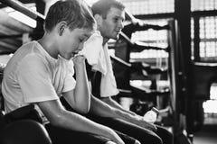 Treinando o conceito do exercício de Sporty Exercise Athlete do instrutor Fotografia de Stock