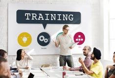 Treinando o desempenho do treinamento que aprende o conceito da prática foto de stock royalty free