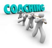 Treinando Team Training Exercise Leadership puxado palavra Imagem de Stock Royalty Free